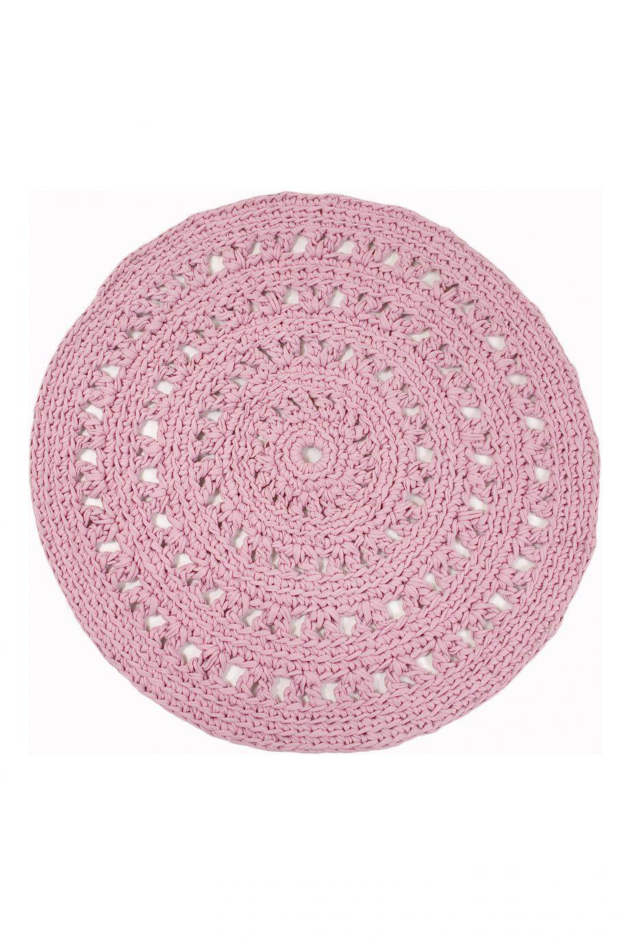 arab baby roze gehaakt katoenen kleed medium