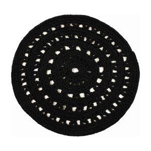 arab zwart gehaakt katoenen kleed medium