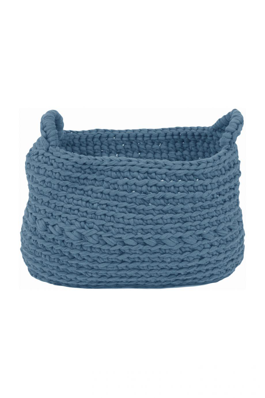 basic baby blauw gehaakt katoenen mand xlarge
