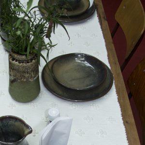 bord oker glaze ceramic xlarge