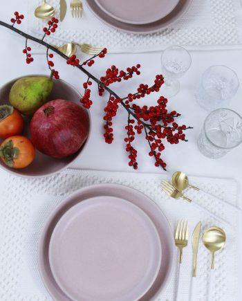bord poeder roze mat ceramic aardewerk xlarge