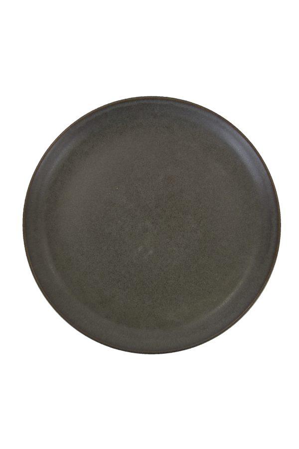 dessert bord houtskool mat ceramic aardewerk medium