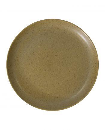 dessert bord mosterd mat ceramic aardewerk medium