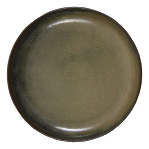 dessert bord oker glaze ceramic medium