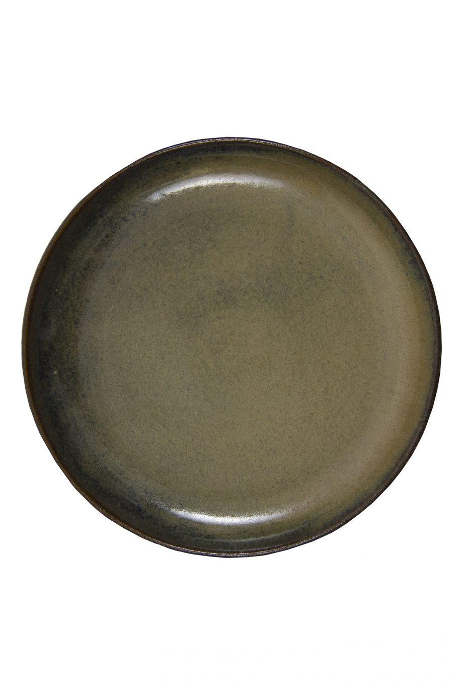 dessert bord oker glaze ceramic medium
