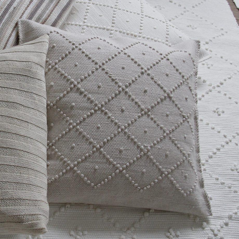 diamond linnen geweven katoenen kussensloop medium