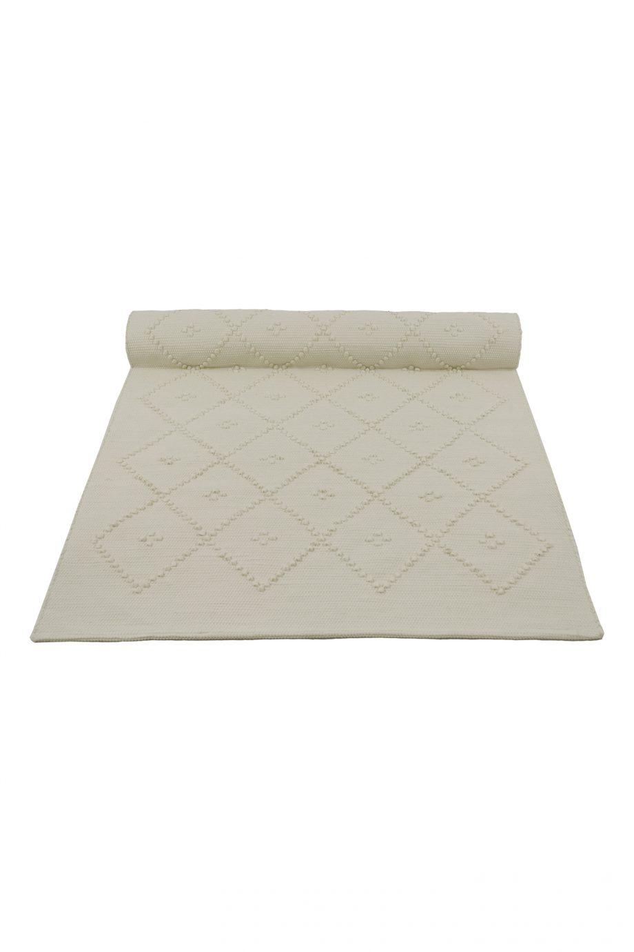 diamond off-white geweven katoenen kleed medium