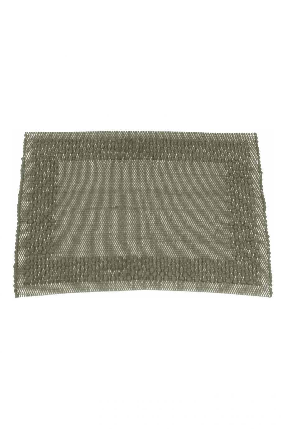 frame olijf groen geweven katoenen placemat small