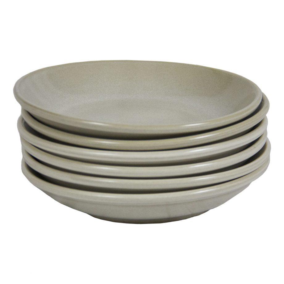 glaze ceramic soep bord yummy milk stapeltje