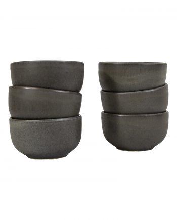 kom houtskool mat ceramic aardewerk medium
