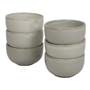 kom melk wit glaze ceramic medium