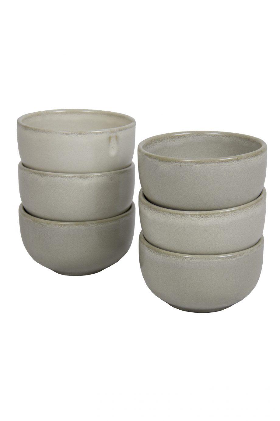 kom melk wit glaze ceramic medium