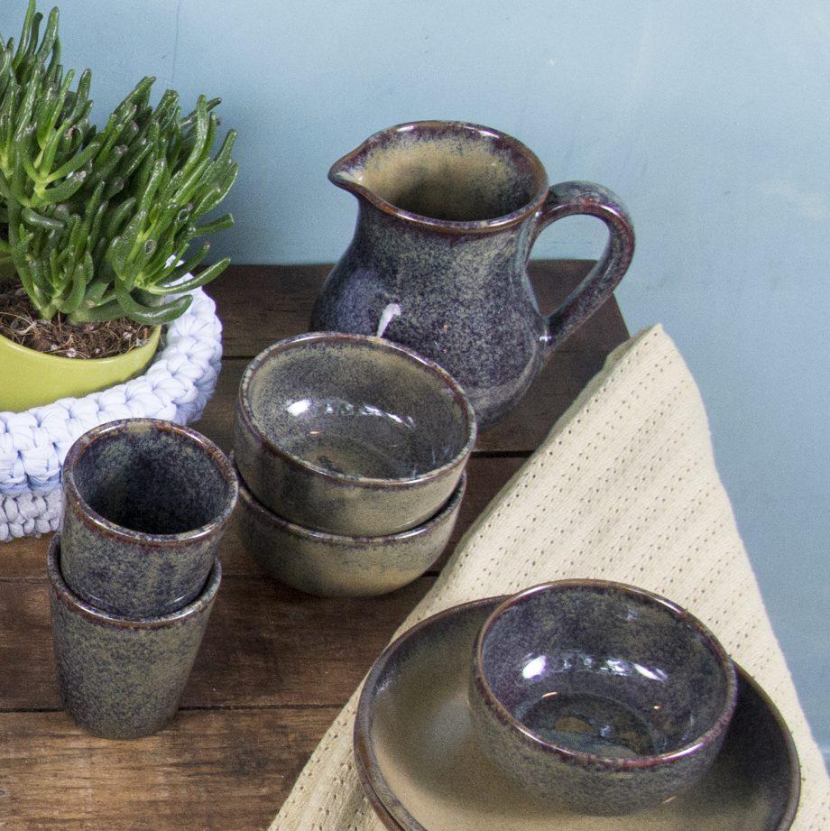 kom oker glaze ceramic medium