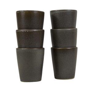 kop houtskool mat ceramic aardewerk large