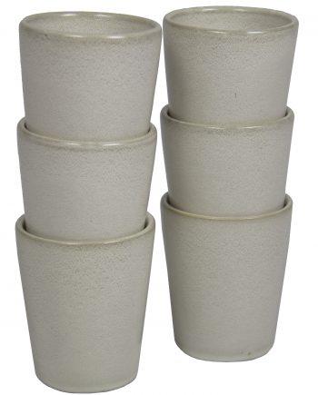 kop melk wit glaze ceramic large