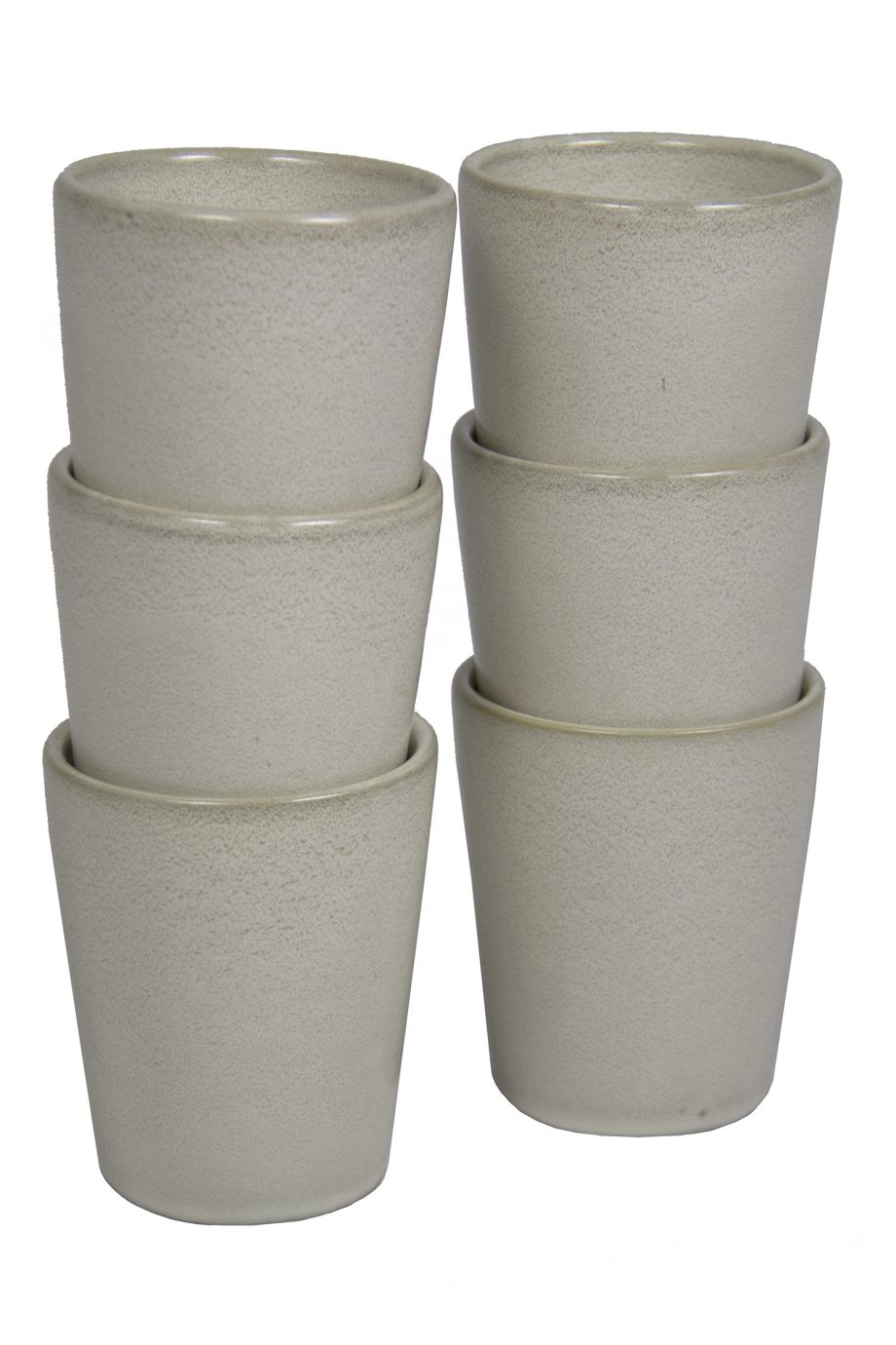 kop melk wit glaze ceramic large
