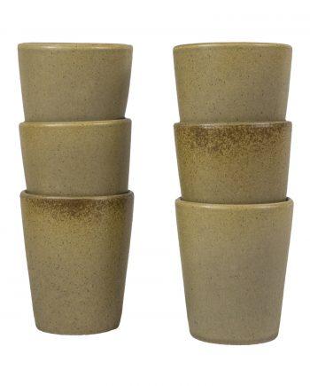 kop mosterd mat ceramic aardewerk large