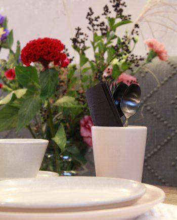 kop poeder roze mat ceramic aardewerk large