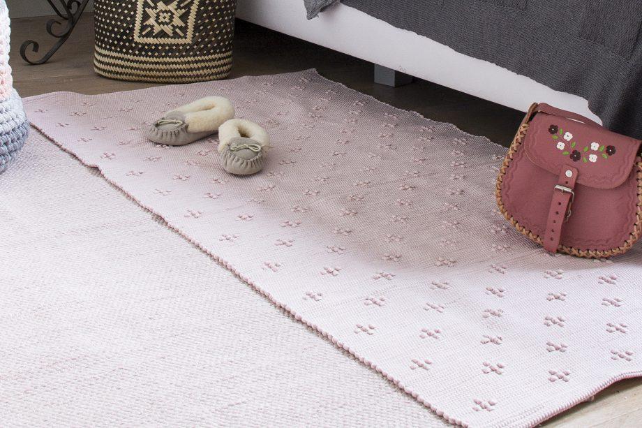 liz baby roze geweven katoenen kleed medium