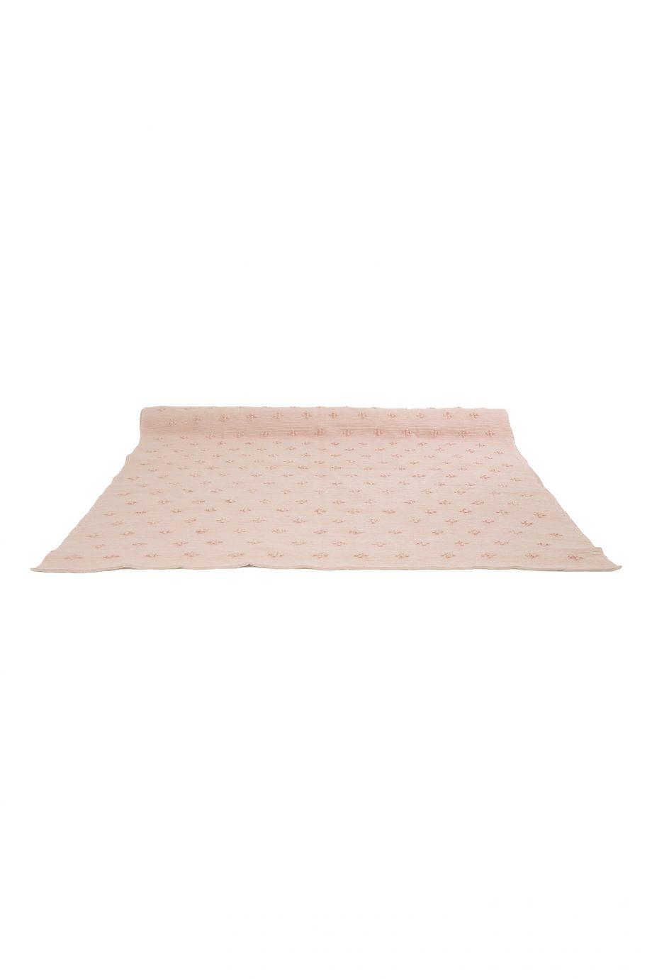 liz baby roze geweven katoenen kleed xlarge
