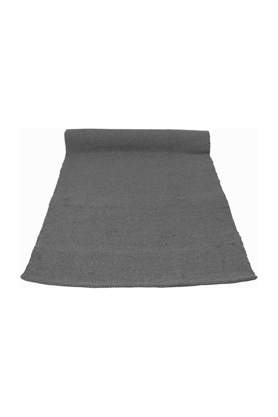 nordic grijs geweven katoenen kleed medium