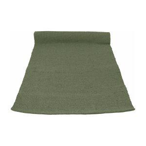 nordic olijf groen geweven katoenen kleed medium