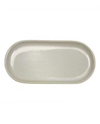 ovaal amuse schaal melk wit glaze ceramic medium