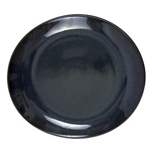 ovaal bord ink glaze ceramic medium