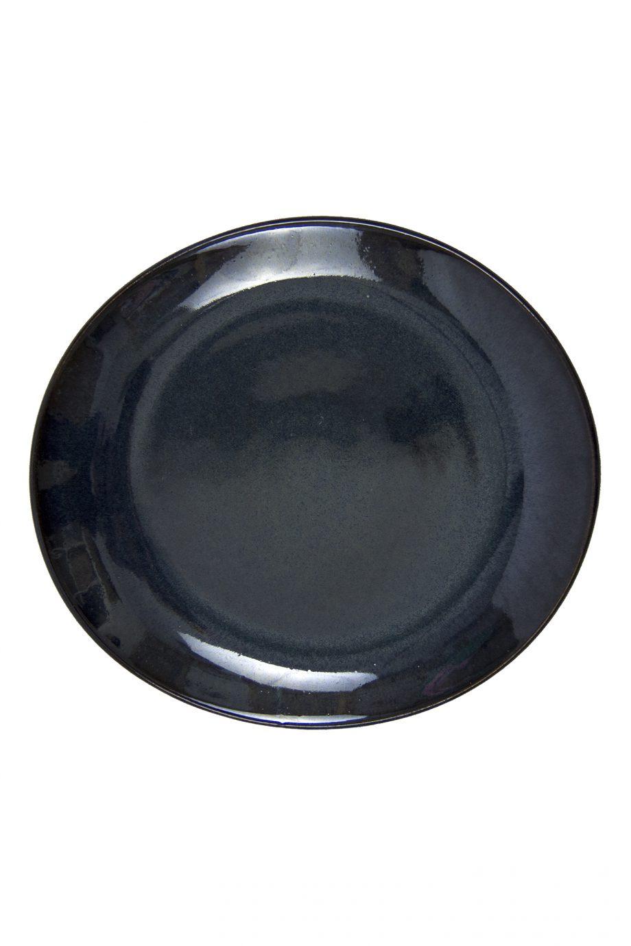 ovaal bord ink glaze ceramic medium