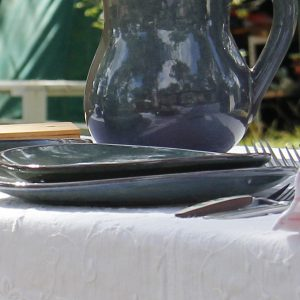 ovaal dessert bord celadon glaze ceramic small