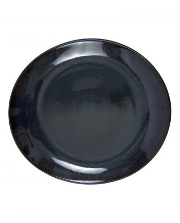 ovaal dessert bord ink glaze ceramic small