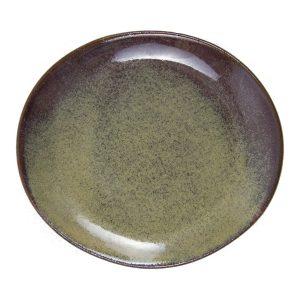 ovaal dessert bord oker glaze ceramic small