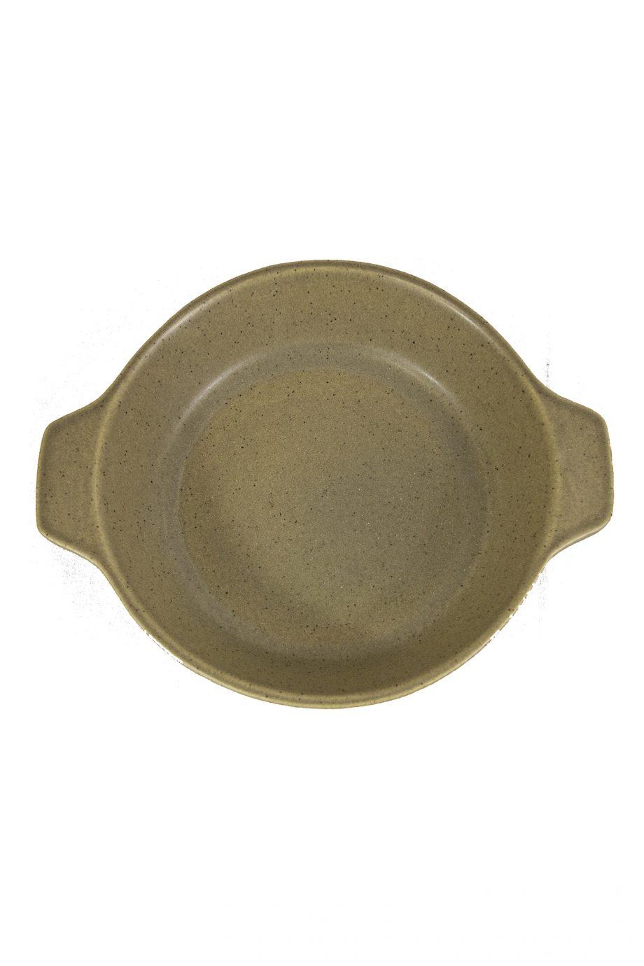 oven bord mosterd mat ceramic aardewerk small