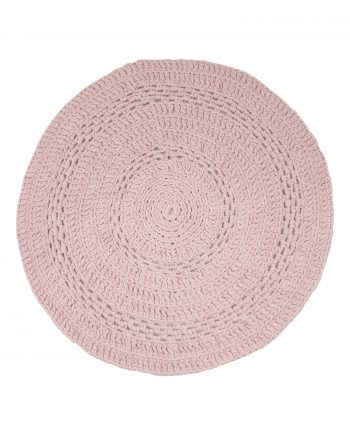 peony poeder roze gehaakt katoenen kleed medium