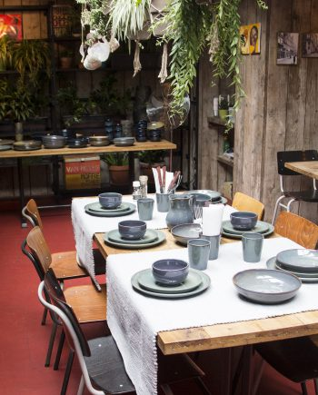 salade kom celadon glaze ceramic large