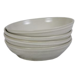 salade kom melk wit glaze ceramic large