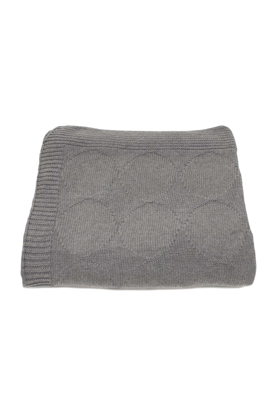 spots grijs gebreide katoenen deken large
