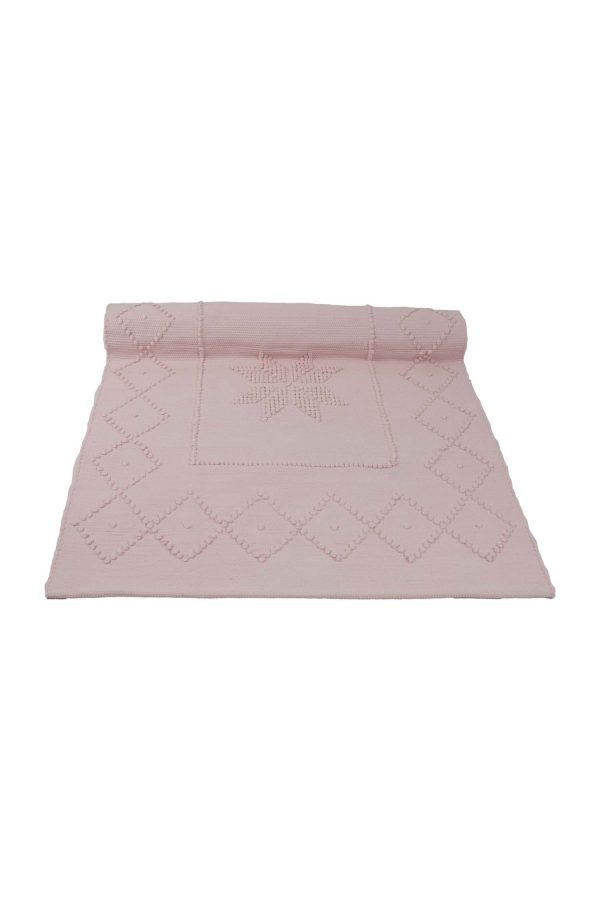 star baby roze geweven katoenen kleedje small