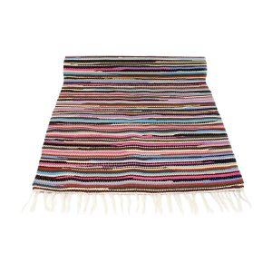 stripy mixmatch geweven katoenen kleed medium