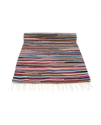 stripy mixmatch geweven katoenen kleed medium