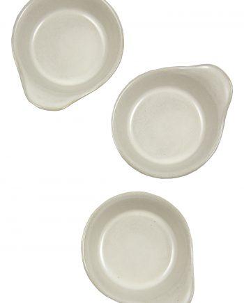 tapas schaal melk wit glaze ceramic small