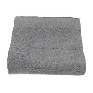 urban grijs gebreide katoenen deken large