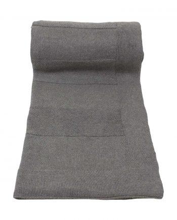 urban grijs gebreide katoenen plaid medium