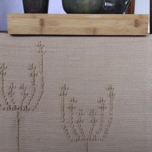 summerflowers linnen geweven katoenen kleed medium